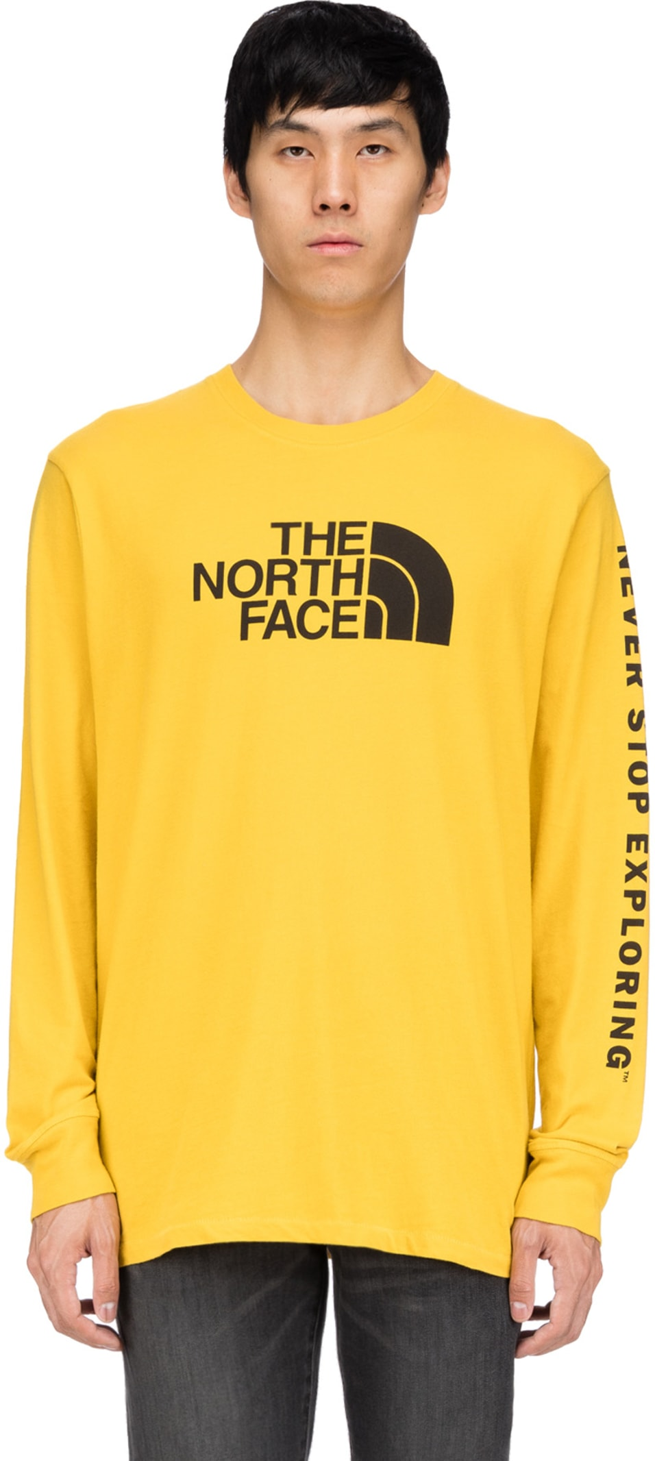 d8ba69f39 The North Face - Well Loved Half Dome Long Sleeve T-Shirt - Leopard Yellow