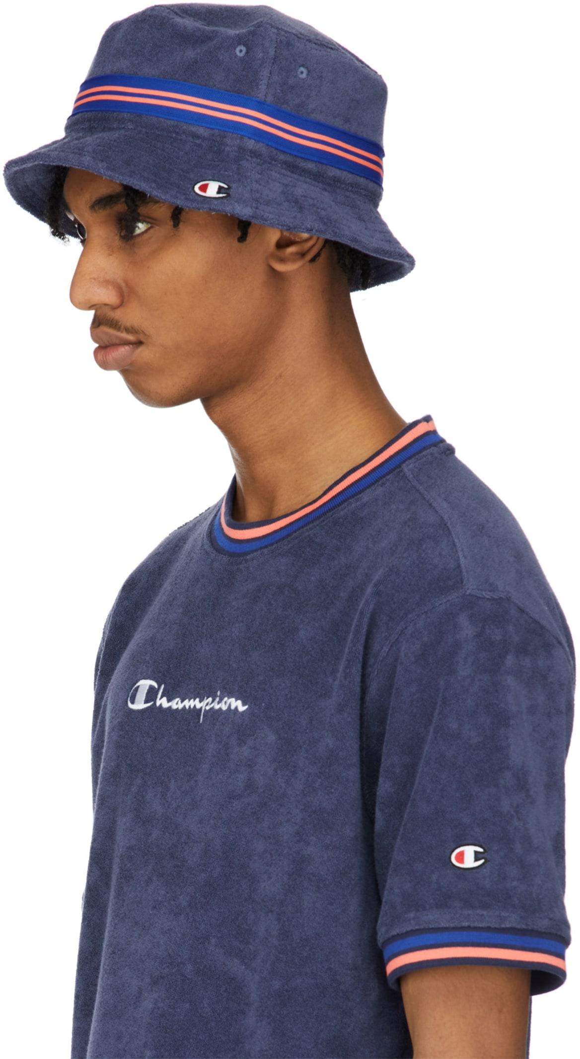 245bf09aeda71f Champion: Terry Cloth Bucket Hat - Imperial Indigo | influenceu