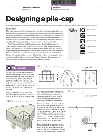 Technical Guidance Note Level 2 No 8 Designing A Pile Cap The Institution Of Structural Engineers