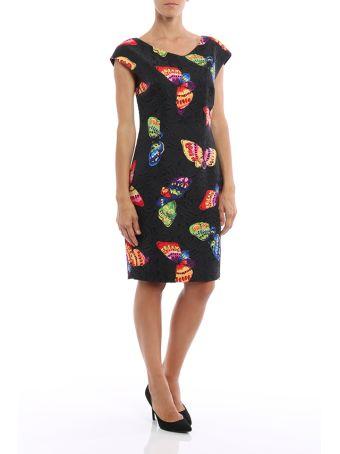 Boutique Moschino Brocade Print Butterfly Dress