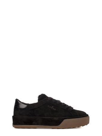 Black R320 Suede Sneakers