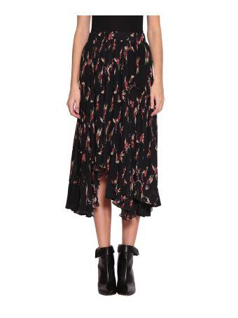 Isabel Marant Wilny Printed Pleated Skirt