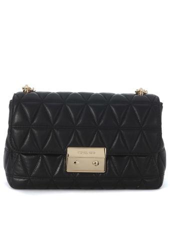 Michael Kors Sloan Black Padded Shoulder Bag