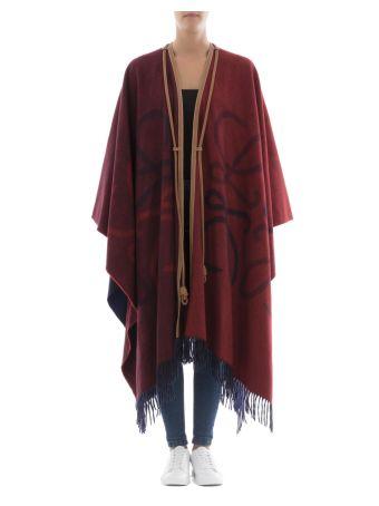 Multicolor Wool Cloak