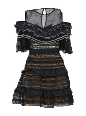 self-portrait Panelled Lace Dress