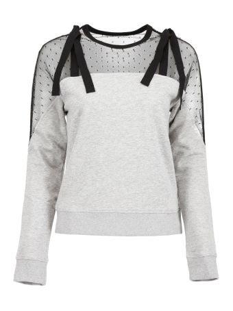 Jersey Sweatshirt With Tulle