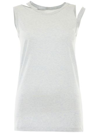 Cut-out Cotton T-shirt
