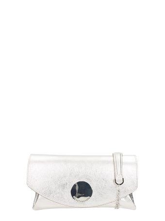 L'Autre Chose Silver Metal Leather Shoulder Bag