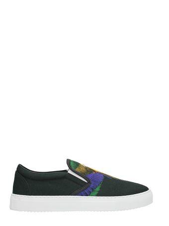 Marcelo Burlon Slip On Color Wing Black Cotton Sneakers