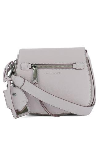 Lilac Leather Shoulder Bag