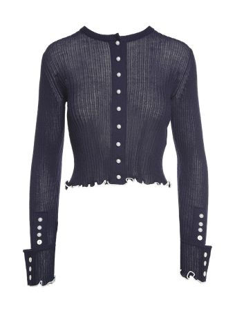 3.1 Phillip Lim Faux-pearl Wool-blend Cardigan Sweater