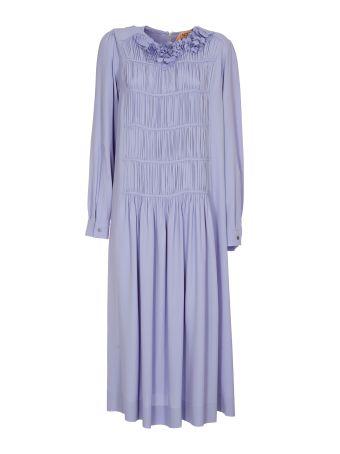 N.21 Nº21 Textured Collar Midi Dress