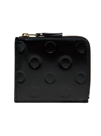 Comme Des Garçons Wallet Polka Dot Embossed Wallet