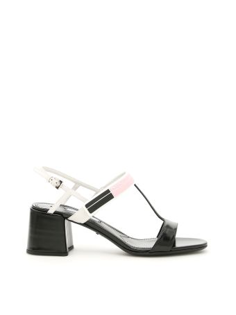 Bicolor Brushed Calfskin Sandals
