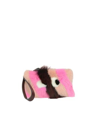 Anya Hindmarch Furry Eyes Clutch