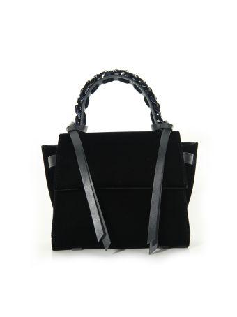 Elena Ghisellini Black Velvet Mini Angel Bag