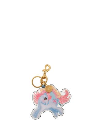 Moschino Faux Leather Keychain
