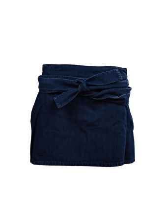 J.W. Anderson Denim Skirt With Leather Pocket