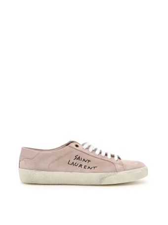 Suede Sneakers With Logo