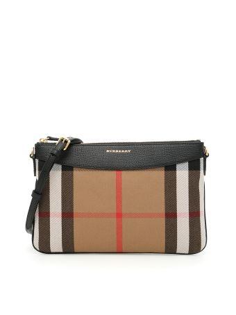 Leather And Check Peyton Bag