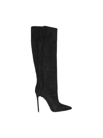 Le Silla Black Tiny Velour Boots