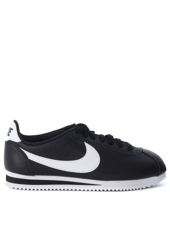 Nike Classic Cortez Black And White Leather Sneaker