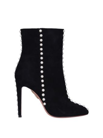 Aquazzura Embellished Suede Ankle Boots
