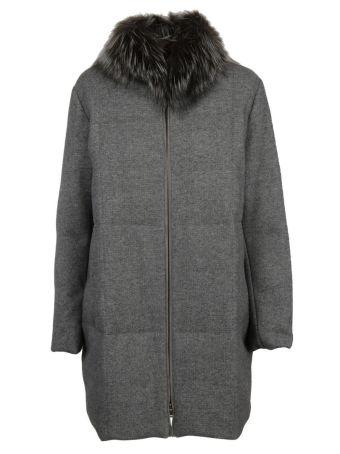 Fabiana Filippi Fur Trim Down Jacket