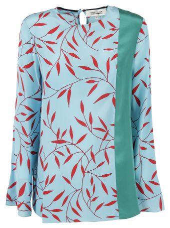 Diane Von Furstenberg Diane Von Furstenberg Side Slit Printed Top