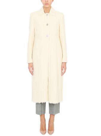 Victoria Beckham Natural Wool-blend Coat