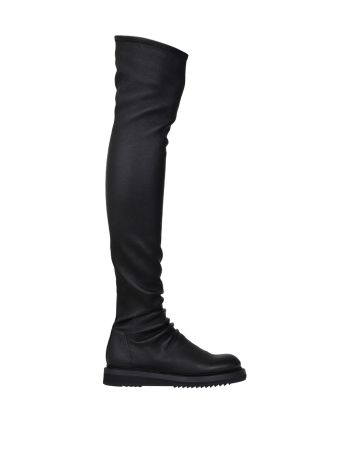 Rick Owens Stocking Creeper Stretch Leather Boots