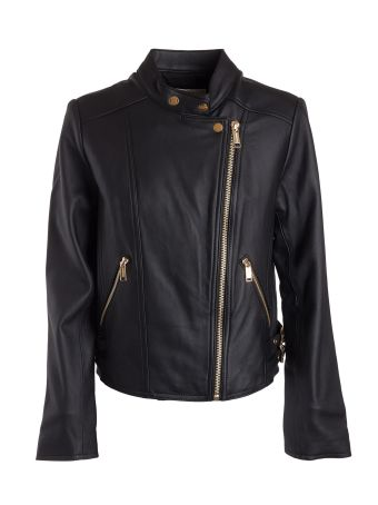 Michael Kors Zip Leather Jacket