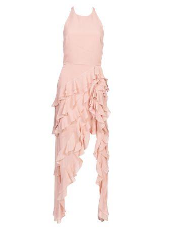 Alice + Olivia Carma Halter Ruffle Dress