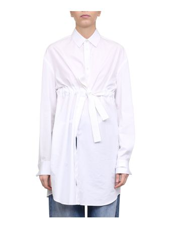 Maison Margiela Cotton Poplin Belted Shirt