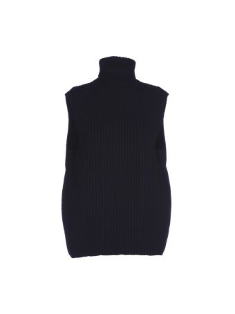 Dries Van Noten Tisha Ribbed Sleeveless Roll Neck