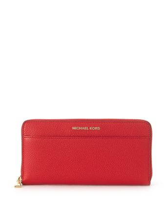 Michael Kors Mercer Wallet In Red Saffiano Leather