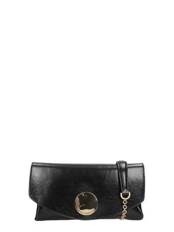 L'Autre Chose Black Leather Shoulder Bag