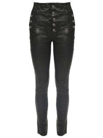J Brand Natasha High-waist Stretch-leather Trousers