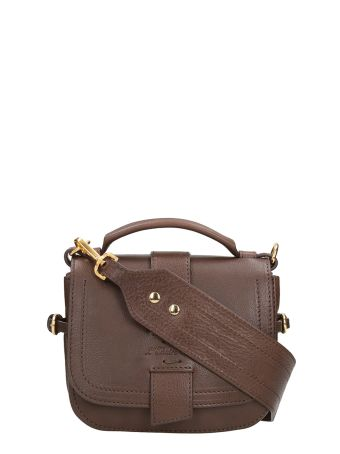 L'Autre Chose Brown Leather Bag.w 180 Mm