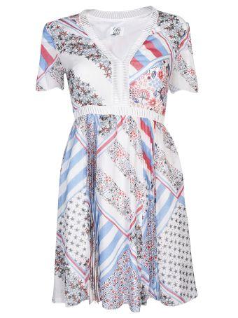 Tommy Hilfiger Patchwork Print Flared Dress