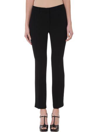 L'Autre Chose Black Crepe Trousers