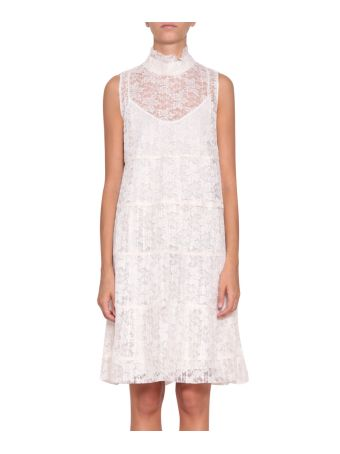 See by Chloé Plissé Lace Dress