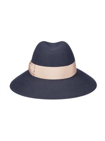 Borsalino Logo Strap Hat