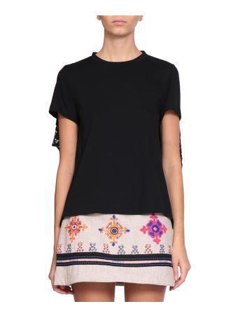 WANDERING Cotton Lace T-shirt