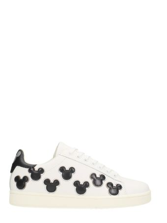 M.O.A. master of arts Multi Mickey White Leather Sneakers