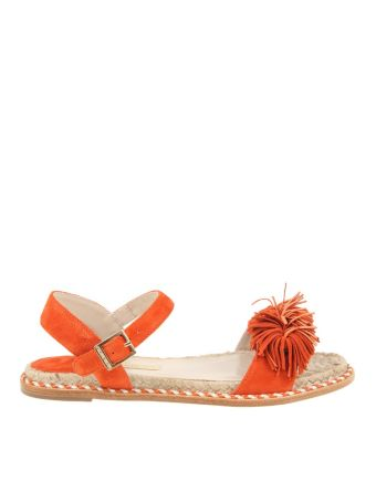 Paloma Barcelo' Sandals Suede Nimes Orange