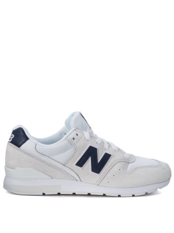 New Balance 996 Revlite White Suede And Mesh Fabric Sneaker