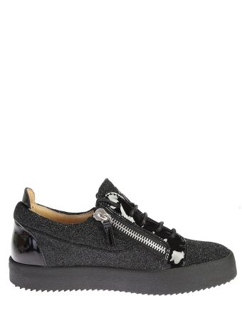 Silver Leather Lowtop Sneakers