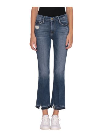 Frame Le Crop Mini Boot Cotton Denim Jeans