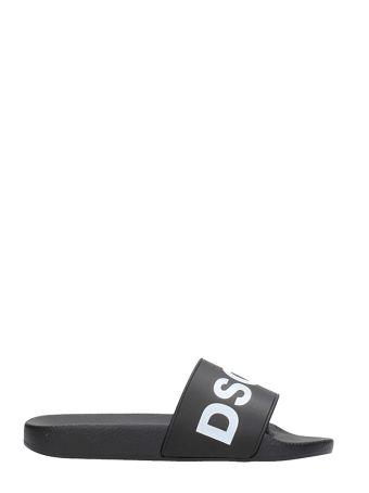 Dsquared2 Logo Slide Pool Flat Sandals